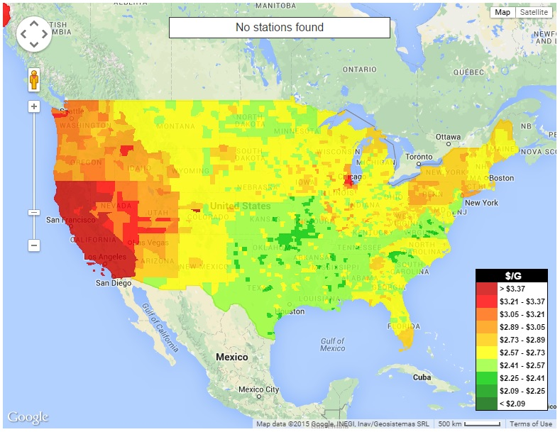 Inflation Monitor May - Us gas price map