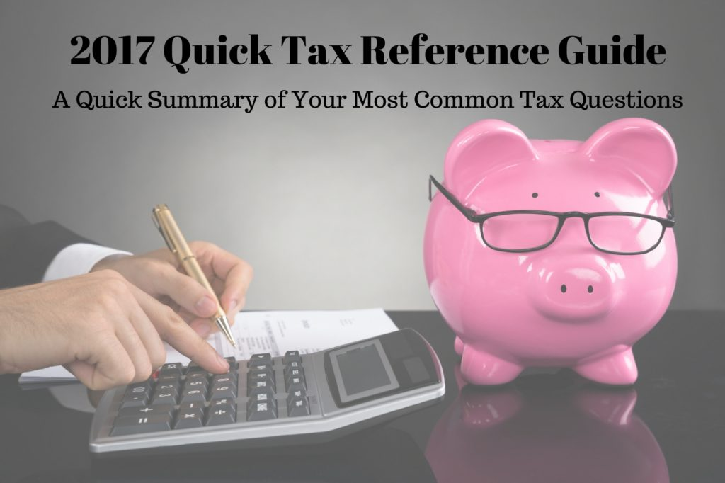 2017 Tax Reference Guide